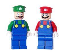 Mario & Luigi Custom LEGO Minifigures by miniBIGS, via Flickr
