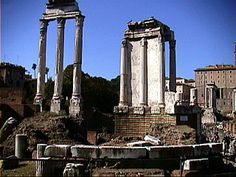 Ruins of the Temple of Vesta at the Roman Forum
