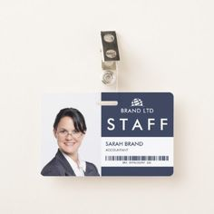 Business Photo ID Staff Badge - photo gifts cyo photos personalize