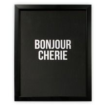Print in frame - Bonjour Cherie 30x40 cm