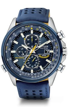 Citizen Eco-Drive Blue Angels World Chronograph A-T AT8020-03L Atomic Timekeeping
