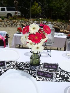 Flowers dress up any event,  Flowers By: Alana Martinez Florist