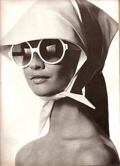Make a retro look appear fresh with an updated frame shape. We love these white shades from YSL. Click to shop Eyesave!