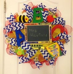 Teacher Deco Mesh Wreath