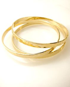 solid brass banggles: wow unlike my FXX1 bangles these will always look like gold haha fab