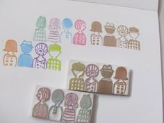 silhouette Handcarved Stamp by Stamp S.O.S, via Flickr