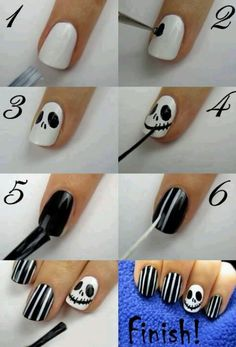 #Halloween Nail Art. check out www.MyNailPolishObsession.com for more nail art ideas.