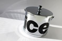 Mod Chrome Typography Ice Bucket Vintage ATAPCO by tippleandsnack