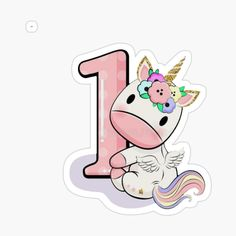 Unicorn Cupcakes Toppers, Unicorn Cake Topper, Baby Unicorn, Unicorn Party, Horse Template, Unicorn Birthday Cards, 1st Birthday Party For Girls, 1st Birthday Cake Topper, Flashcards For Kids