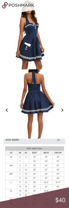 Hot Topic Hell Bunny Sailor Dress M NWT Hot Topic Hell Bunny Navy Blue Motley Sailor Dress size Medium NWT Hot Topic Dresses