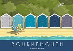 Bournemouth Beach Huts Blue