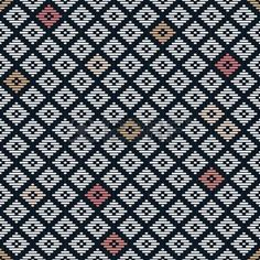flat stitch: Seamless pattern. Japanese Kogin embroidery. Traditional ornament Hanako. Abstract illustration. Simple geometric ornament for a stitching. Contrast. Black background. Illustration