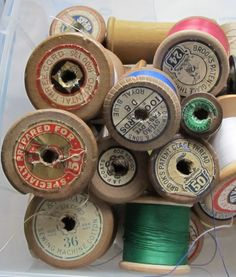 wooden cotton reels