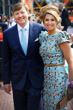 Dutch King Willem-Alexander and Queen Maxima attend the 2014 King's Day celebrations in De Rijp