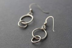 Sterling Encircled in Love Earrings by tladesigns on Etsy