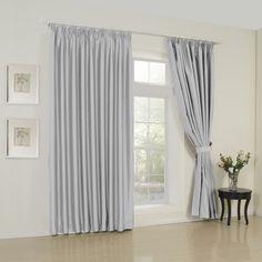 Modern Solid Silver Curtain  #curtains #decor #homedecor #homeinterior #grey