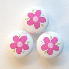 Serendipity Flower Drawer Knobs / Nail Covers for Picture Hanging
