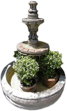 This extraordinary architectural stone fountain, handmade with round basin and free standing. In colonial state of Michoacan between town of Quiroga and Patzcuaro we produce hand carved stone fountains. Stone Fountains, Basin, Garden Landscaping, Hand Carved, Carving, Rustic, Outdoor Decor, Yards, Handmade