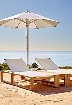 Laurent Chaise Lounge By Porta Forma - Frontgate, Patio Furniture Backless Bar Stools, Teak Table, Market Umbrella, Patio Umbrellas, Furniture Covers, Outdoor Furniture, Outdoor Decor, Outdoor Living, Sun Lounger