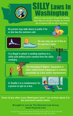 Some pretty crazy laws from the state of Washington [Infographic]