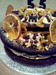 Naked cake- Naranja y chocolate