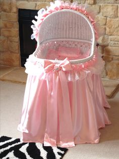 girly pink bassinet