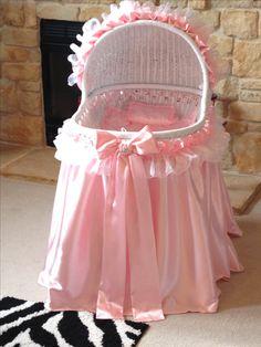 girly pink bassinet