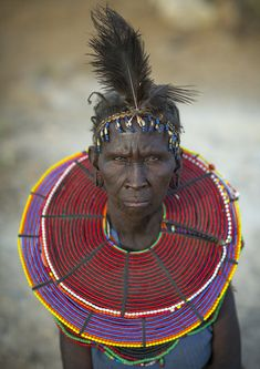 A Pokot Woman Wears Large Necklaces Made From The Stems Of Sedge Grass   Flickr - Photo Sharing!
