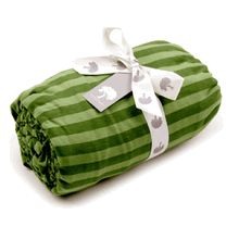green stripe jersey fitted crib sheet | kate quinn organics #organic bedding #organic crib sheet