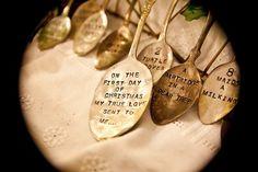 Vintage Silverware Ornaments Twelve Days of Christmas by Woodenhive