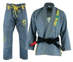 DRAGON BRAZILIAN JIU JITSU ARMY GREEN Gi MMA Grappling KIMONOS BEST QUALITY GI