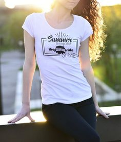 Summer brings out the witty side of me lady fit tee Yoga Beginners, Simpsons Shirt, Shirt Embroidery, Prism Color, Crew Shirt, Ash Color, Urban Outfits, Casual Outfits, Summer Tshirts