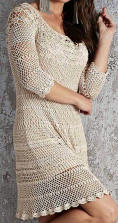 Crochet Dresses, Crochet Clothes, Crochet Lace, Western Tops, Hairstyle, Women's Fashion, Knitting, How To Wear, Inspiration