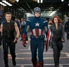 Cap, Hawkeye and Black Widow ❤❤❤