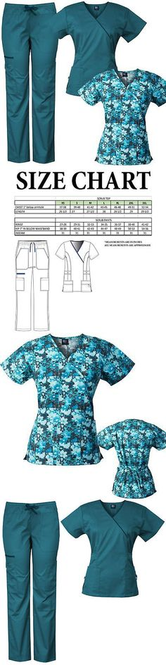 c8e9befc7bc Sets 105432: Medgear 3-Piece Eversoft Stretch Scrubs Set With Printed Top  Combo 7896St