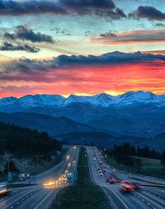 in Colorado. Photo by Colorado Josh Moving To Colorado, Denver Colorado, Colorado Springs, Denver City, Colorado Trip, Colorado Quotes, Beautiful Sunset Pictures, Beautiful Places, Beautiful Sky