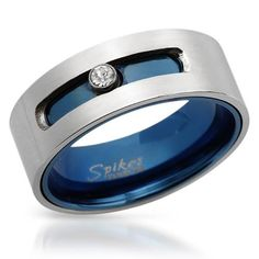 Blue & Stainless Steel Band
