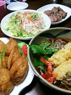 New Year's Eve is when Japanese folks have Toshikoshi Soba (buckwheat noodles) often topped with prawn tempura.