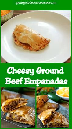Ramadan Recipes 360921357637655496 - Cheesy Ground Beef Empanadas hasve a flaky crust full of deliciously seasoned ground beef, loaded with two types of cheese and then baked to perfection. Beef Empanadas, Empanadas Recipe, Roast Beef Recipes, Ground Beef Recipes, Mexican Dishes, Mexican Food Recipes, Ethnic Recipes, Beef Dishes, Food Dishes