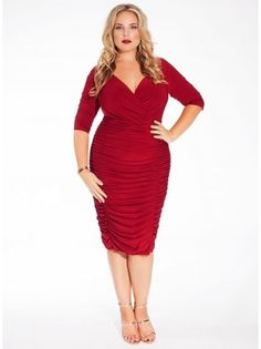 The seductive Ambrosia Dress is cut from all-season stretch jersey and hugs, smoothes, & enhances the contour of your curves. It can be worn on or off shoulder. Whether in rich blue, red or black add some bright gems, colorful clutch and strappy pumps for head turning style.