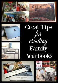 How to Create Family Yearbooks- tips on what to include, how to organize photos & different photo book printers.