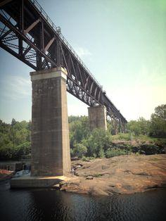 Railway bridge, Parry Sound. I Am Canadian, Georgian, Bridges, Perfect Place, Summer Fun, Fresh Water, Ontario, Places Ive Been, Exploring