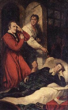 Death of the Earl of Argyll, James Northcote, 1809, exhibited RA 1810, oil on panel