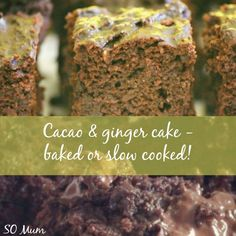 Cacao and ginger cake - baked or slow cooked pudding!