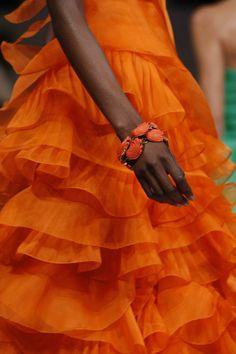 pleated ruffles #orange