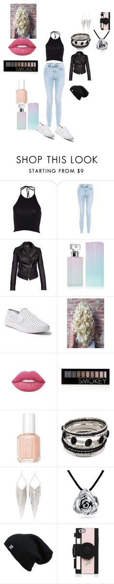 """""""Emma's outfit for Sunderland, England"""" by onedirectionforever1297 on Polyvore featuring New Look, Barbour International, Calvin Klein, Steve Madden, Lime Crime, Forever 21, Essie, Jules Smith, Bling Jewelry and Kate Spade"""