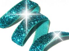 Aqua Glitter Ribbon~This one is for my ~Mother~ Her Favorite Color~ She Loved ~Aqua~ Miss you Mom~