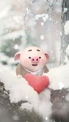 Pig #love Pig Wallpaper, Cute Baby Wallpaper, Cute Disney Wallpaper, Cute Cartoon Wallpapers, This Little Piggy, Little Pigs, Cute Piglets, 3d Art, Pig Drawing
