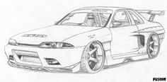 Skyline Car Drawing at PaintingValleycom Explore collection of - Home decor Skyline Gtr R34, Nissan Skyline, Gtr Drawing, Lowrider Drawings, Outline Pictures, Cool Car Drawings, Marvel Coloring, Paper Car, Truck Coloring Pages