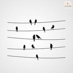 Vogels 2 - Dewiha Art - sjablonen, muurstickers, vogels
